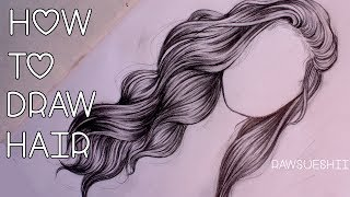 How to Draw Hair | Step by Step by Christina Lorre ?