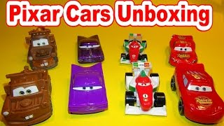 Pixar Cars New Cars Unboxing Lightning McQueen, Mater, Ranmone and Francesco Bernoulli