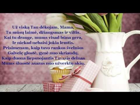 Mamos dienos sveikinimas | Pasveikink Mamą!