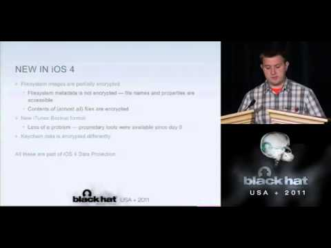 BlackHat 2011 - Overcoming iOS Data Protection to re-enable iPhone Forensics