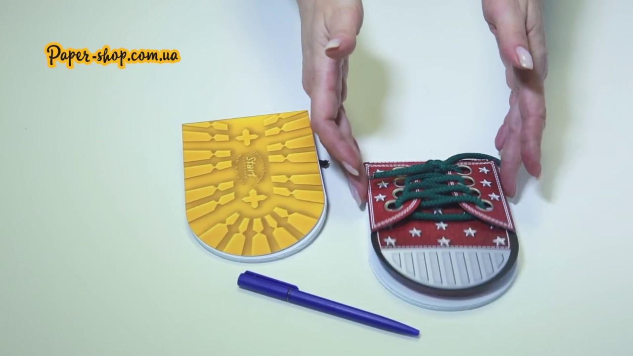 Как сделать блокнот кеды