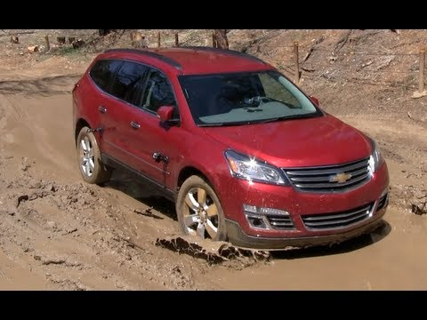 2013 Dodge Durango vs Chevy Traverse Muddy Off-Road Mashup Review (Part 2)