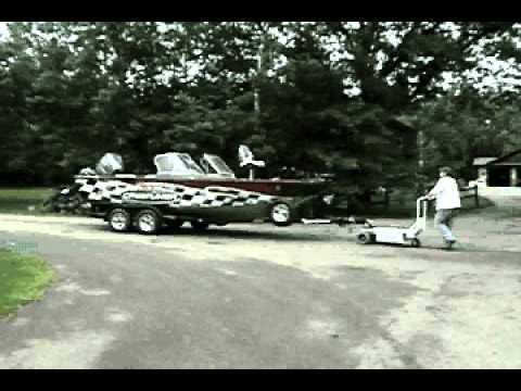 Powered Boat Dolly For Moving Boat Trailers In Tight