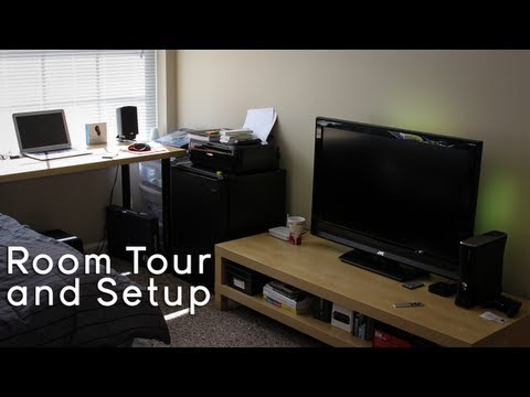 College Tech Office Setup | Gaming Setup (Room Tour) 2013