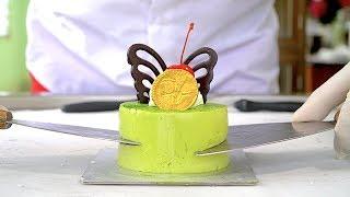 AMAZING JAPANESE MATCHA GREEN TEA BUTTERFLY CAKE ICE CREAM ROLLS