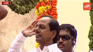 CM KCR Flag Hoisting at Golconda | Independence Day Celebrations 2018
