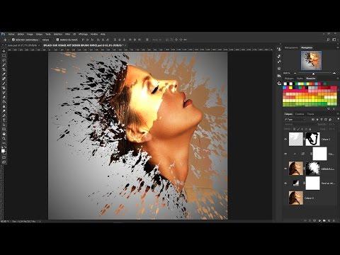 Tutoriel Photoshop CC 2017..Effet  sur Visage Splach avec Tache sur les Yeux...