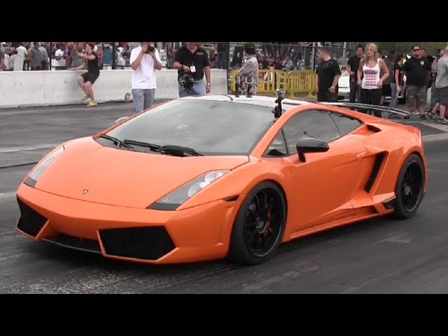 1300 + WHP Underground Racing Gallardo Twin Turbo - 1/4 mile Drag Race Video - StreetCarDrags.com