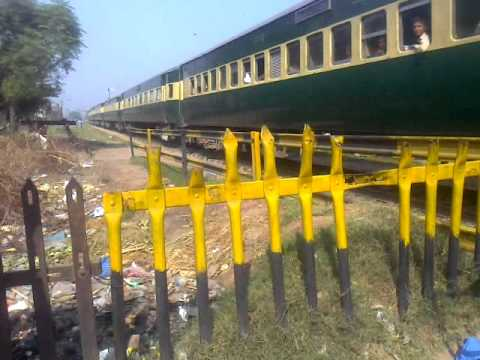 Pakistan Railways:40dn Jafffer Exp passing Dinga Phatak Gujranwala