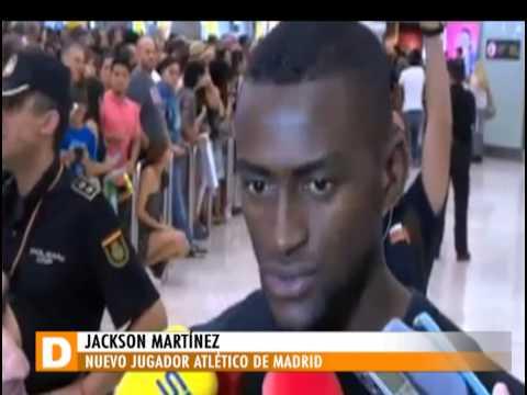 Jackson Martínez llegó a España para unirse al Atlético de Madrid [Noticias] - TeleMedellin