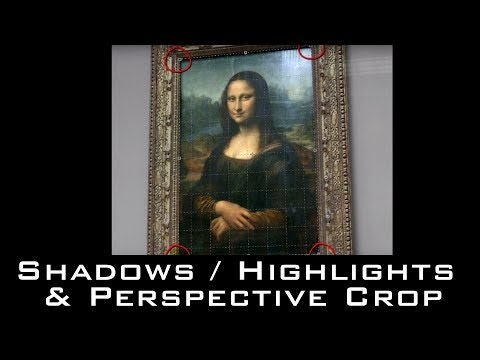 Photoshop Quick Tips: Shadows/Highlights, Perspective Crop, Saving PNGs