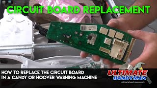 How to replace the printed circuit board in a Hoover or Candy washing machine