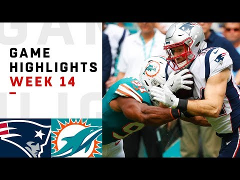Patriots vs. Dolphins Week 14 Highlights  NFL 2018