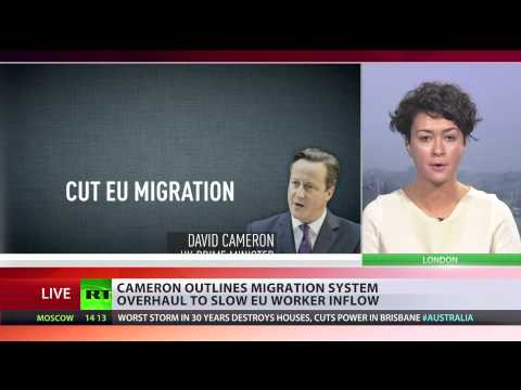 'Control': Cameron outlines plans to cut EU migration to UK