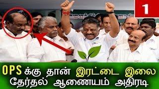 இரட்டை இலையை கைப்பற்றினார் பன்னீர்செல்வம்   Latest Tamil Political Politics Cinema Recent News Today