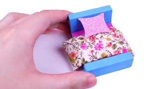 Miss artie craftie viyoutube diy miniature dollhouse bed how to make lps crafts doll stuff miniature ccuart Choice Image