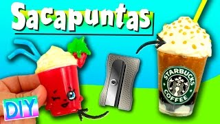 Sacapuntas STARBUCKS y SHOPKINS * Tajadores DECORADOS