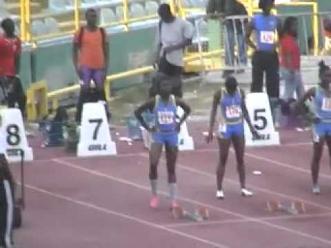 TT Carifta Trials Michelle Le Ahye ayee ayee wins 100m finals
