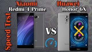 Speed Test Xiaomi Redmi 4 pro vs Huawei Honor 6X