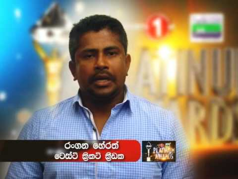 Rangana Herath - Sports First Mobitel Platinum Awards 2014