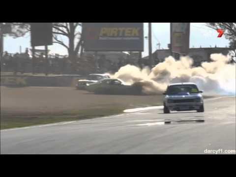 Pile Up @ 2014 Touring Car Masters Bathurst Race 1