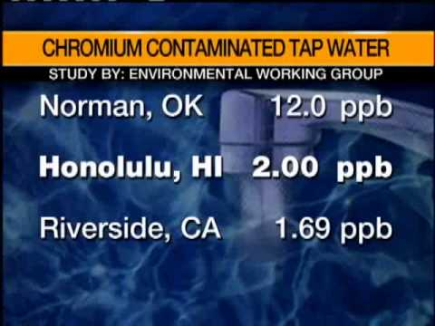 Honolulu Water Contains Potential Cancer-Causing Chemical