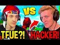 Ninja Thinks This Guy Is HACKING, But It's ACTUALLY Tfue! *PUBLIC MATCH 1v1*