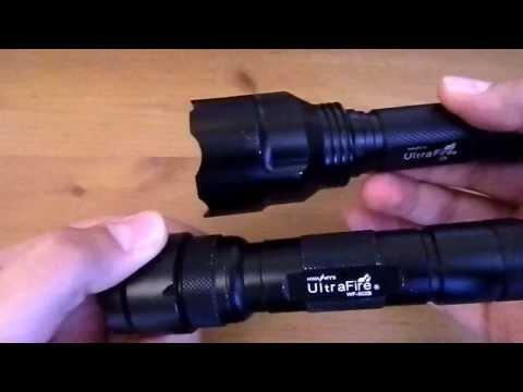 ULTRAFIRE C8 CREE XM-L T6 LED 1300 LUMEN FLASHLIGHT/TORCH part 1 of review