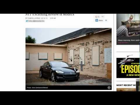 NY Times Caught Lying Tesla Motors