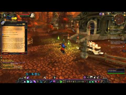 Warcraft - Deathwing incinerates Lewis and Simon! (also Cataclysm Eastern Plaguelands Quests Part 3)
