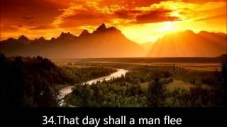 Surah-Abasa by moeed al mazeen verses 17-42. with english translation