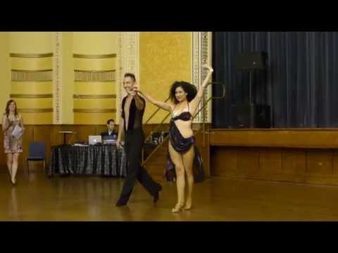 2015 Australian Bachata Championship - Pro/Am Freestyle - Mitch and Doriane