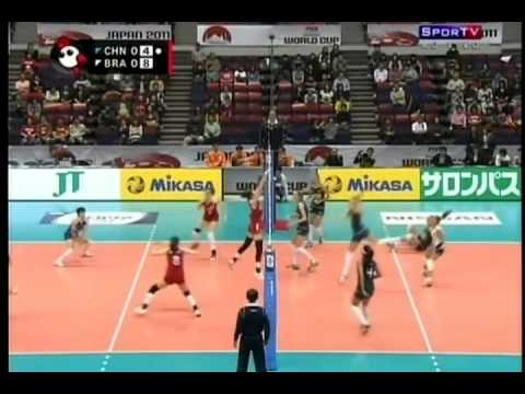 Women Volleyball   World Cup 2011   Brasil 3x2 China   Set 1