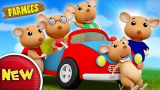 Five Little Naughty Rats Jumping On The Bed | Nursery Rhymes | Kids Song by Farmees