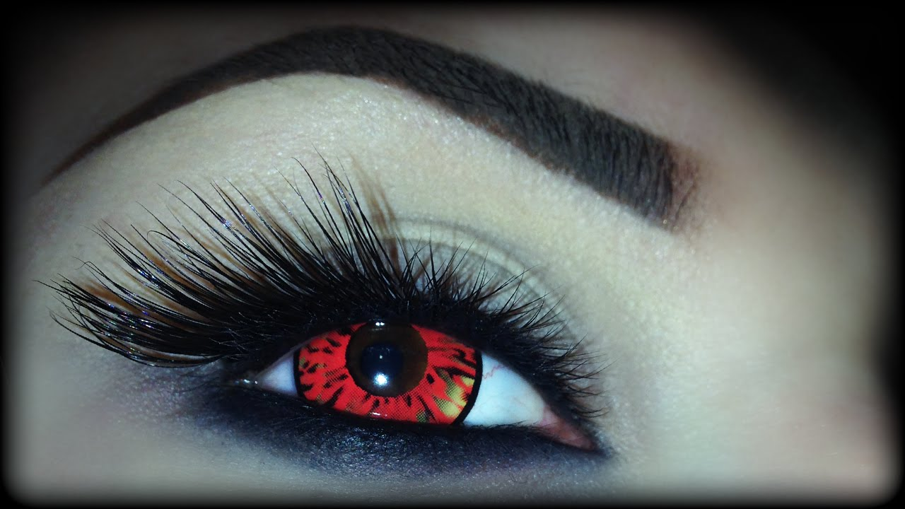 Super Easy Halloween Makeup Tutorial Demon Eyes