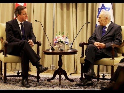 Britain's Cameron and Israel's Peres Condemn Gaza Rockets