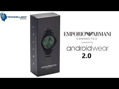 EMPORIO ARMANI ANDROID WEAR CONNECTED SMARTWATCH UNBOXING AND COMPARISON