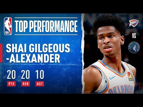 Shai Gilgeous-Alexander Puts up MONSTER 20/20/10 Triple-Double!!