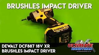 DEWALT DCF887 18V XR BRUSHLESS IMPACT DRIVER