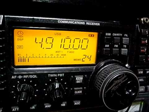 4910kHz Radio Madagasikara + AIR Jaipur : IC-R75 with Slinky antenna