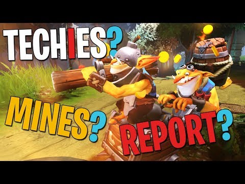 Techies? Mines? Report? - DotA 2 Funny Moments