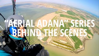 Aerial Adana exhibition behind the scenes.