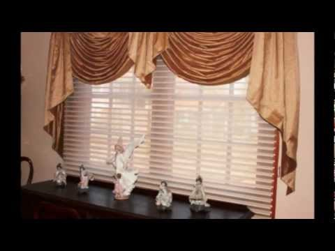 Swag Valance With Cascades And Hunter Douglas Silhouette Shades Youtube