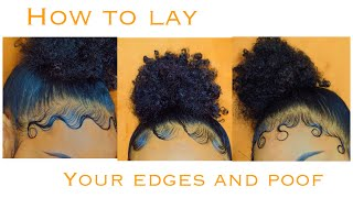 EDGES AND BUN TUTORIAL | How To Style Your Edges 3 Different Ways