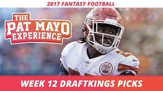 2017 Fantasy Football - Week 12 DraftKings Picks, Preview and Sleepers