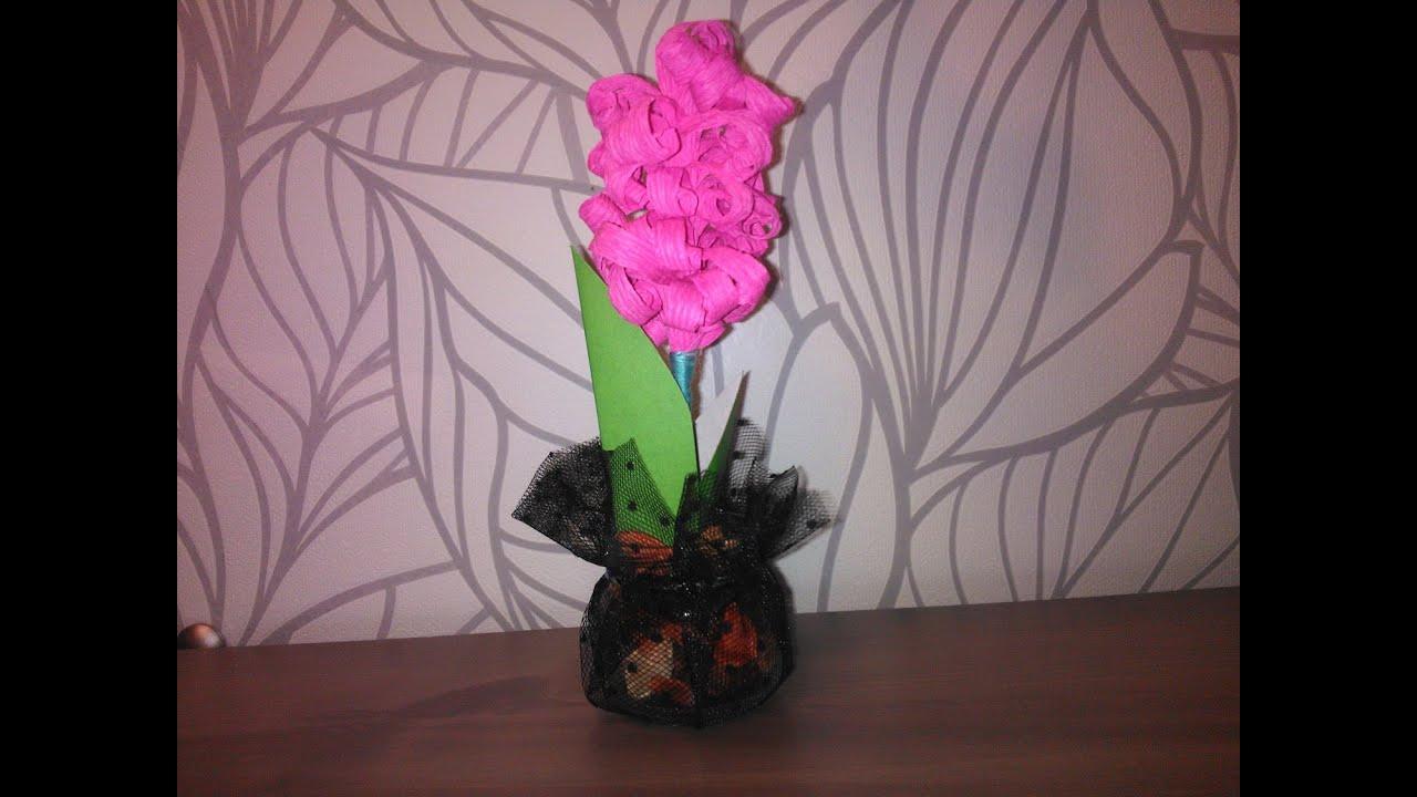 Поделки из гофрированного бумаги тюльпаны своими руками