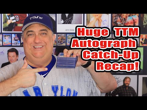 Huge TTM Autograph Catch Up Video! Baseball, Hockey and even Basketball