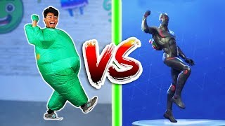 CHUBBY FORTNITE DANCE CHALLENGE IN REAL LIFE!