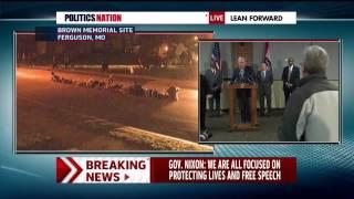 Larry Everest-Revolution revcom.us-Ally UnityND Commies Interrupts Gov MO on Ferguson Burn Bitch Dow