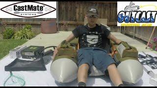 My Float Tube SETUP - Fish Cat 4  Cast Mate System